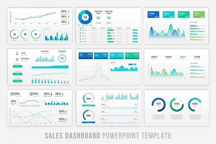 Sales Dashboard Powerpoint Sales dashboard, Dashboard