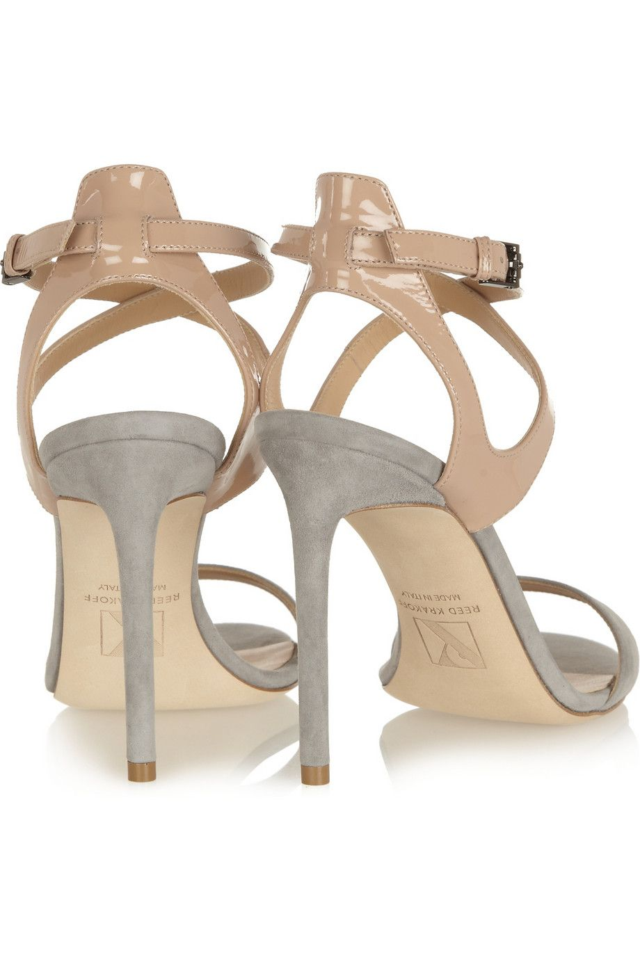 Reed Krakoff | Patent-leather and suede sandals  | NET-A-PORTER.COM