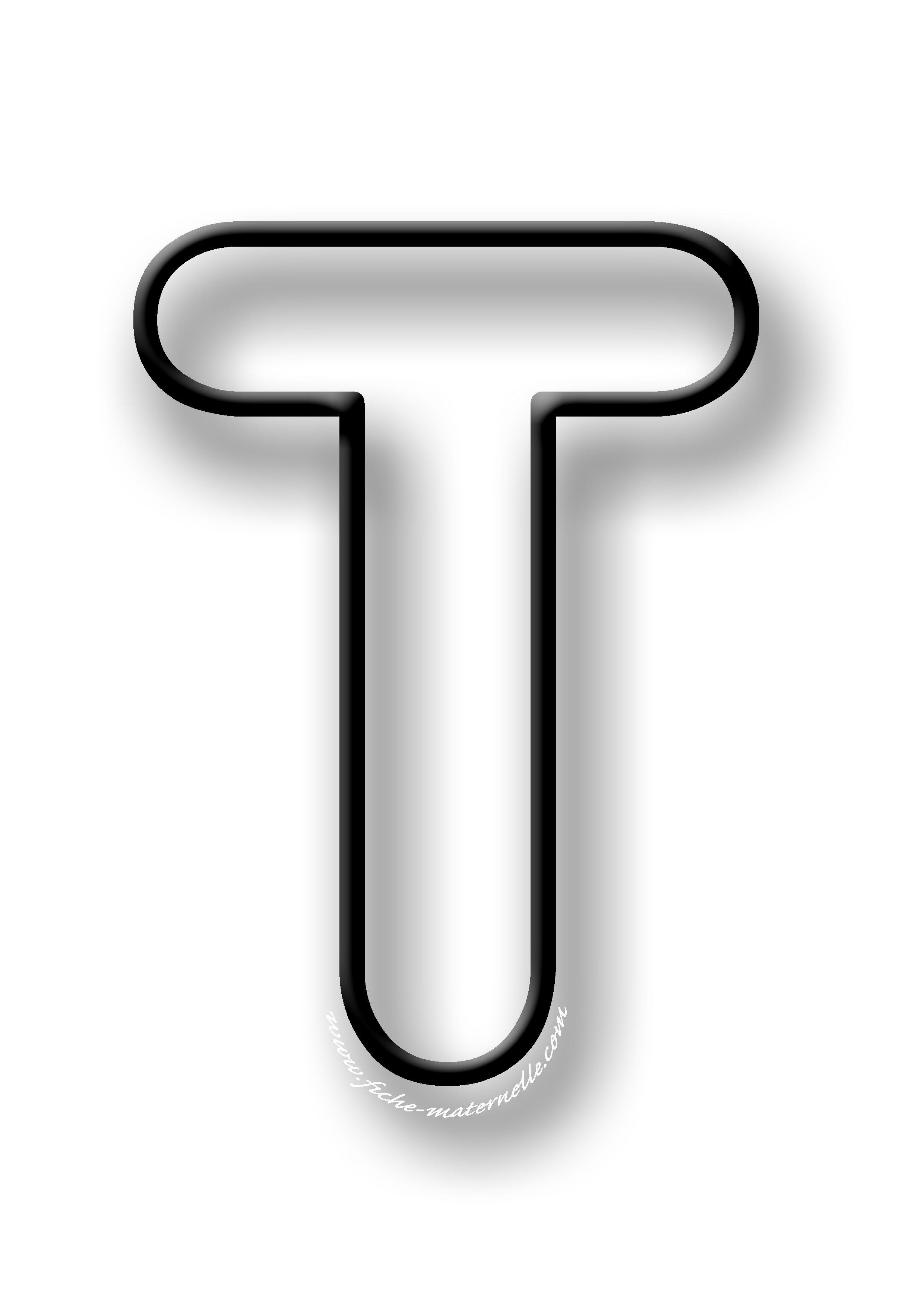 coloriage de la lettre t
