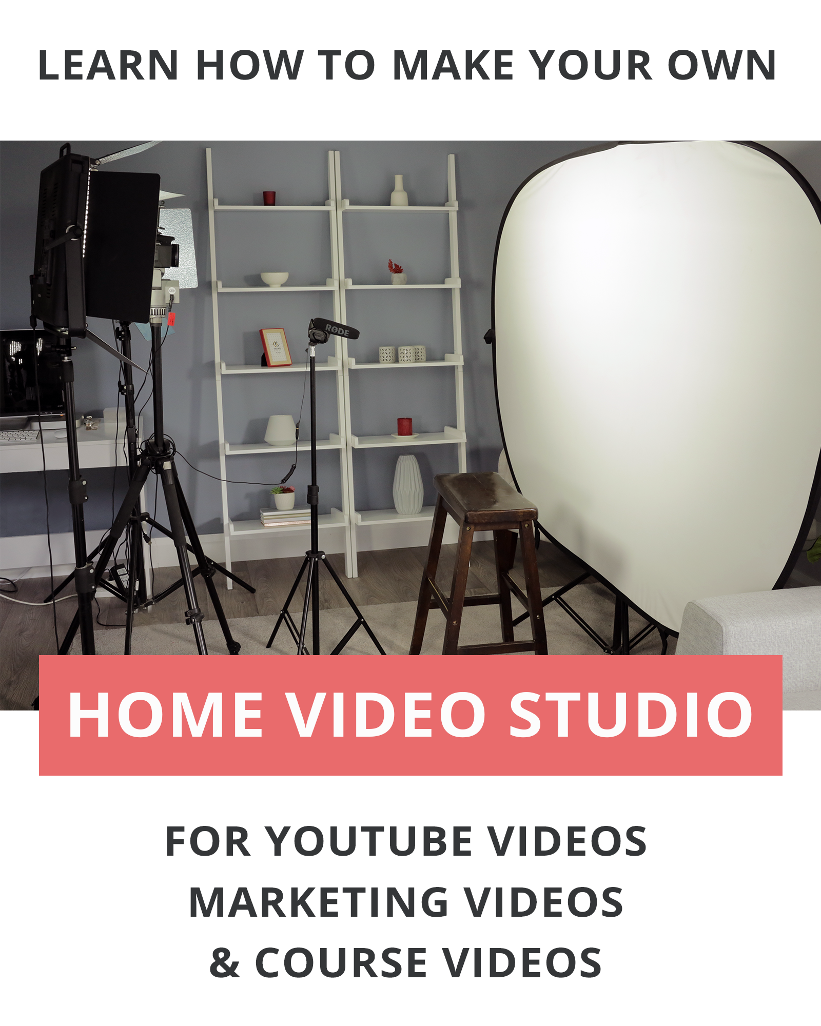 Let Me Show You My Diy Youtube Studio Setup At Home In This Video Production Studio Tour You Ll See What You Need To Set Home Studio Diy Youtube Studio Setup