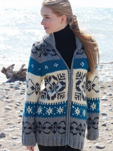Nordic Stag Jacket Sizes Xs 5xl Free Knitting Pattern