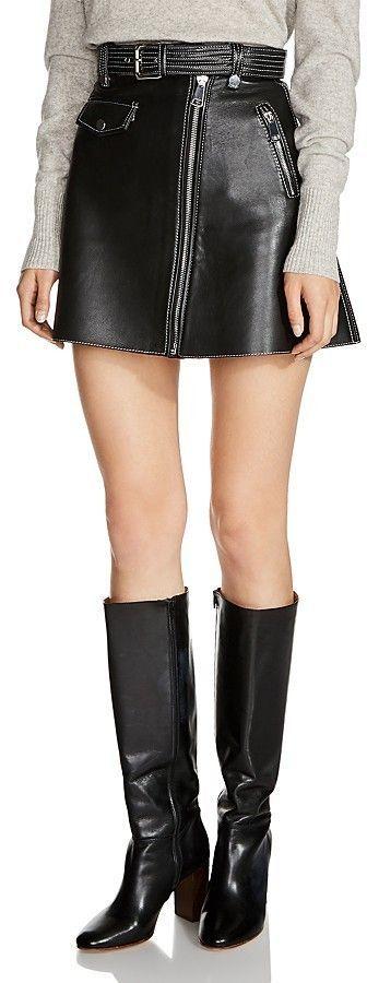 3ff5f44f9 Maje Jouki Leather Mini Skirt | Products | Leather mini skirts, Mini ...