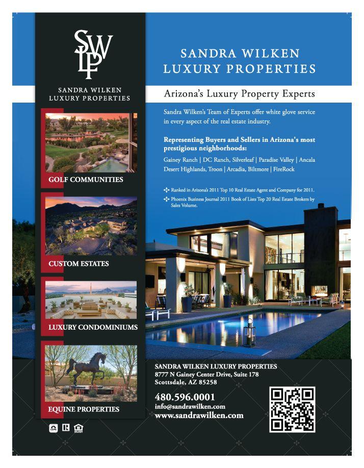 ad design for client sandra wilken luxury properties
