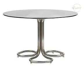 Tavolo Cristallo Anni 70.Tavolo Rotondo In Metallo E Vetro Anni 70 75x118 Cm