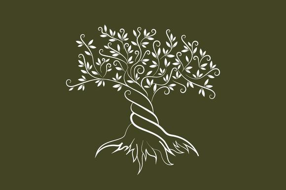Vector Olive Tree Silhouette Tree Illustration Olive Tree Tattoos Tree Silhouette