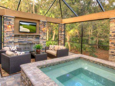 Backyard Jacuzzi Outdoor Florida Home Backyard Pool