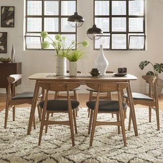 Bring The Beauty Of Beveled Edges, Sleek Angled Legs And Natural Finishes  To Your Mid Century Dream Dining Room With The Norwegian Danish Modern  Dining Set ...