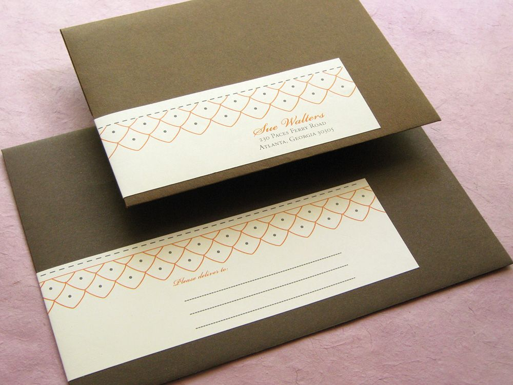 wrap around label stationery - Google Search | invitation / card ...