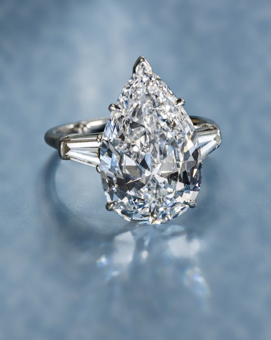 A diamond solitaire ring, Harry Winston. Photo courtesy ...