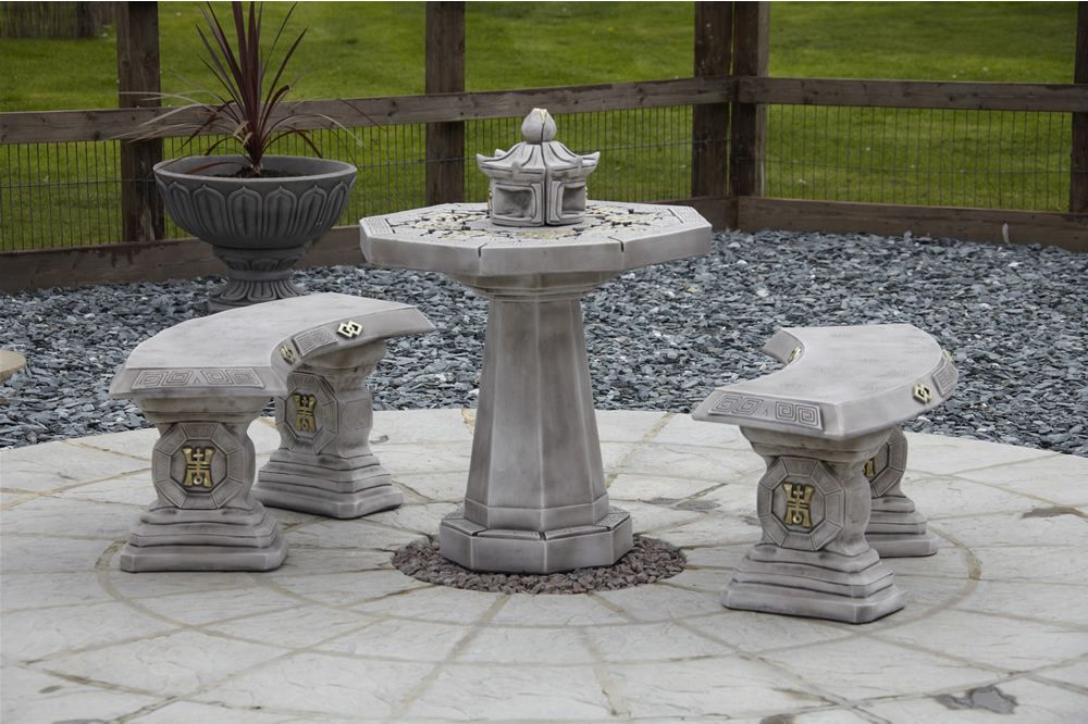 Japanese Garden Furniture   Oriental Japanese Patio Set Stone Garden Furniture - Berkshire ...