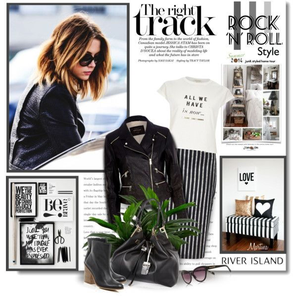 Rock 'n' Roll Style by thewondersoffashion on Polyvore featuring moda, River Island and RiverIsland