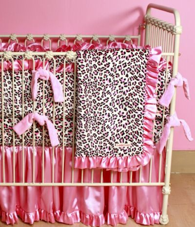Leopard Minky Custom Crib Bedding Baby Boutique Custom
