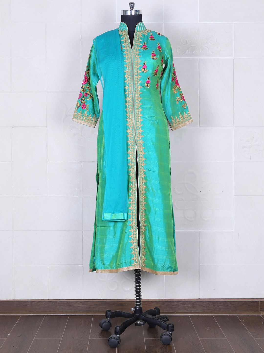 Silk Dhupchav Green Salwar Suit Product Code: G3-WSS20019 Fabric ...