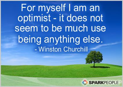 Winston Churchill Quote I AM an Optimist