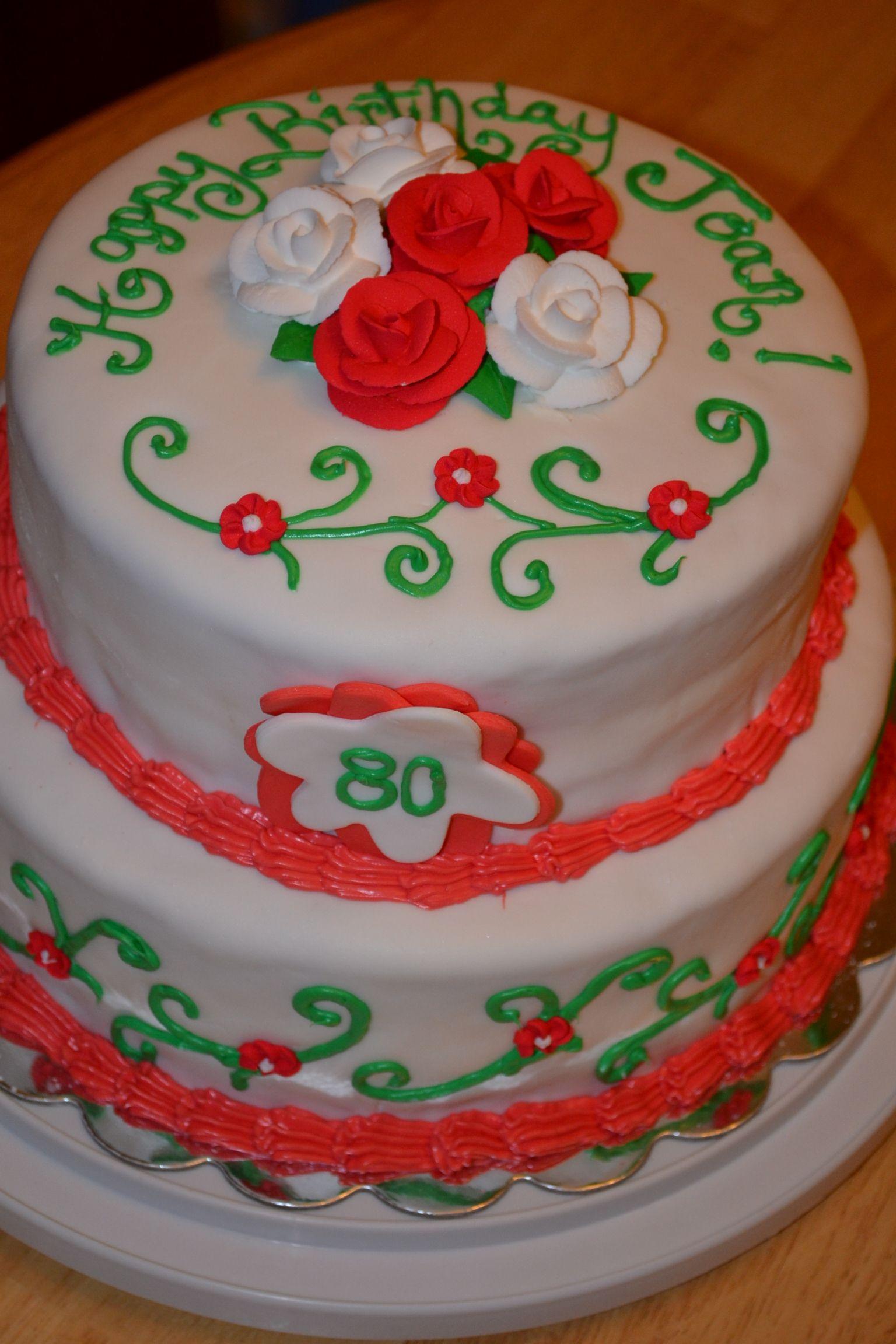 80th birthday sue ann 39 s custom treats pinterest 80 for Adult cake decoration