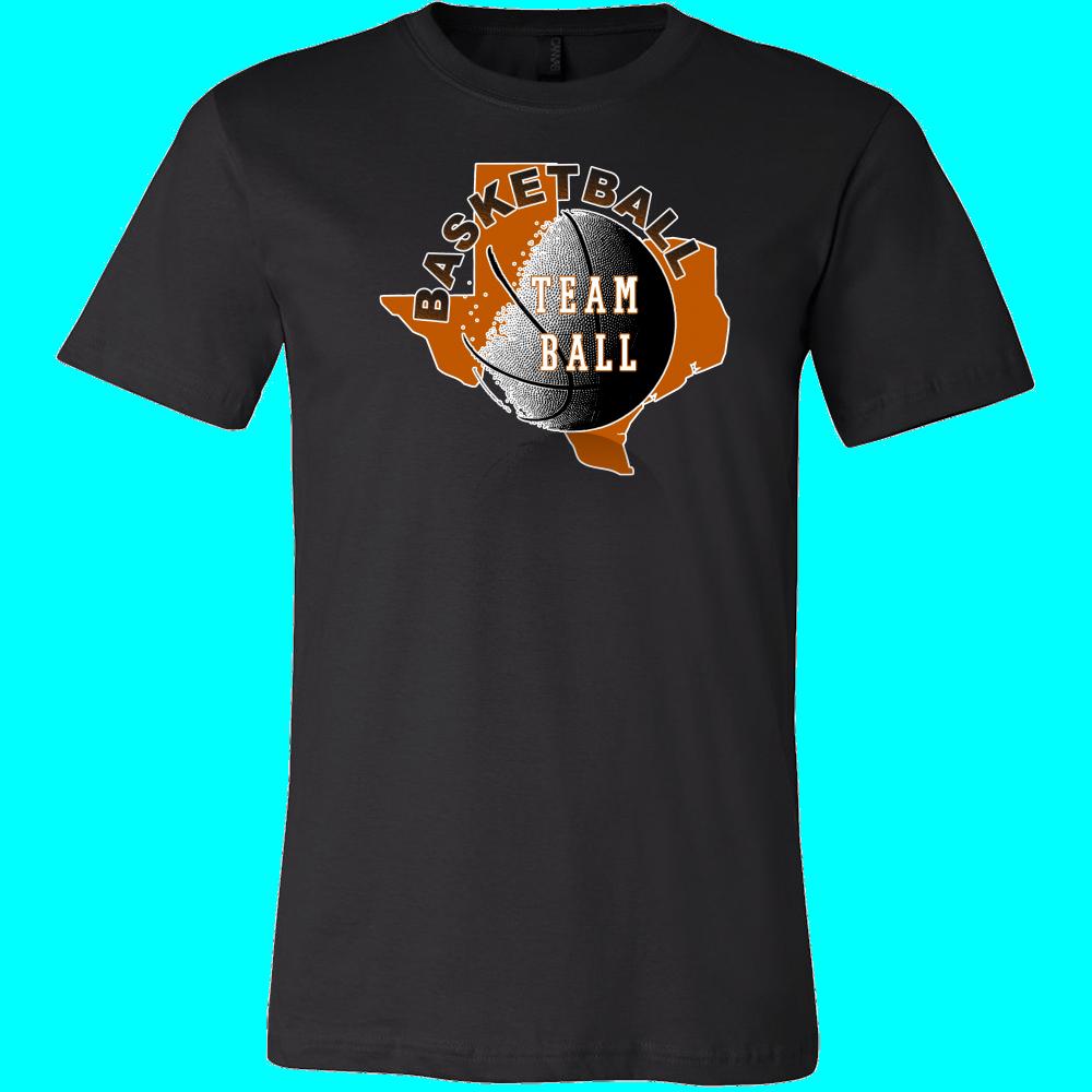 Texas Basketball Team Ball Men's T-shirt