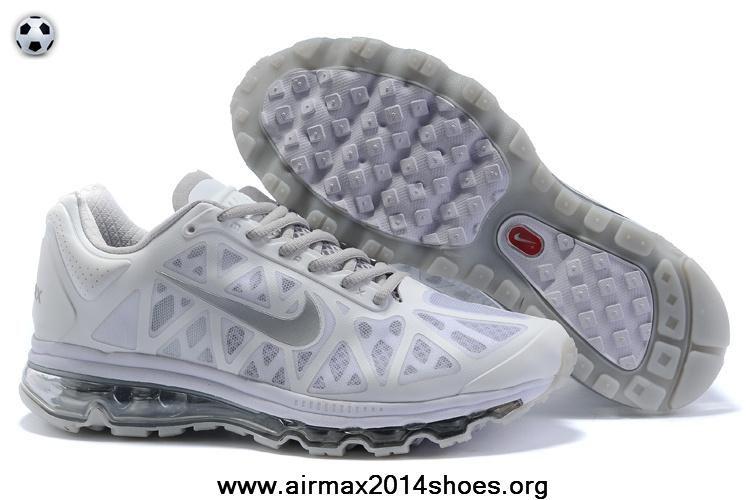 2014 Nike Air Max 2011 Mens White Metallic Silver 429889 101