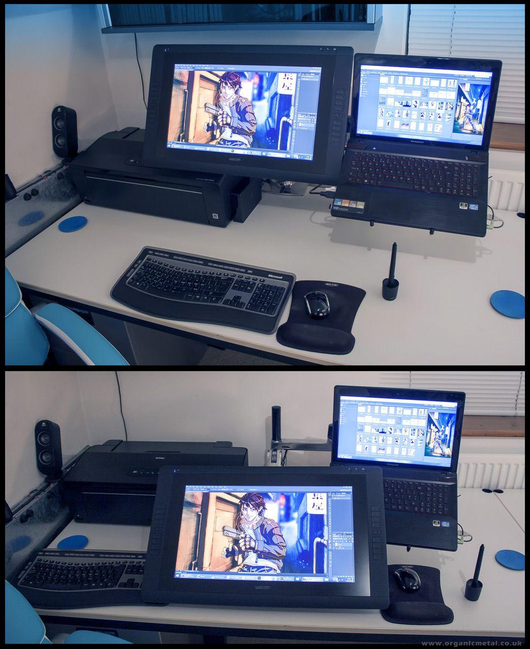 Cintiq 22 desktop cool office space art desk