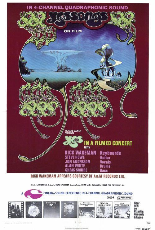 Yessongs 27x40 Movie Poster 1973 Yes Concert Concert Posters