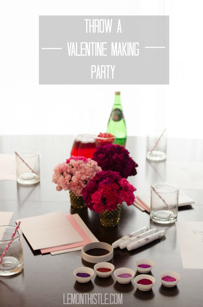Card Making Party Ideas Part - 20: Super Simple Valentine Card Making Party- Fun Idea!