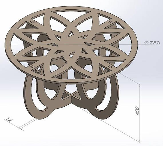 Center Table Design Vectors DXF Files CNC Router And Laser Cutting