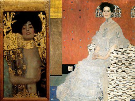 Collier de chien Klimt A gauche : « Judith I », huile sur toile ...