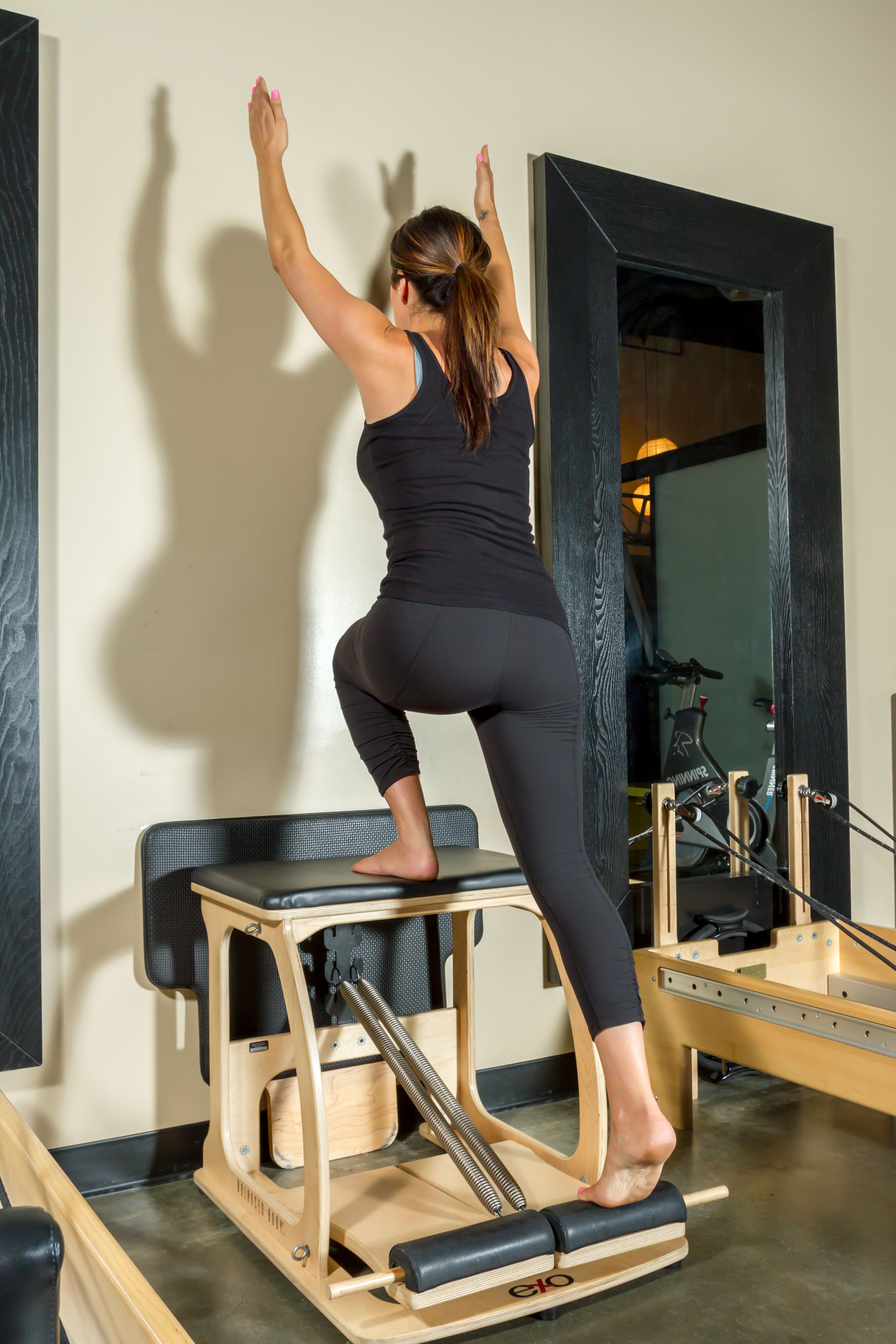 Pilates malibu chair buy malibu chair pilates combo -  Pilates Exo Chair Balance Lunge