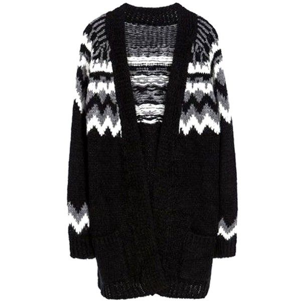 Fair+True New  Fairtrade FairIsle Oversize Cardigan (489.900 COP) ❤ liked on Polyvore featuring tops, cardigans, sweaters, outerwear, jackets, fair isle cardigan, oversized cardigan and fairisle cardigan