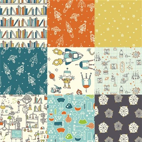 Robotics fabric by Birch, fat quarter, organic fabric, online ... : online quilting fabric stores australia - Adamdwight.com