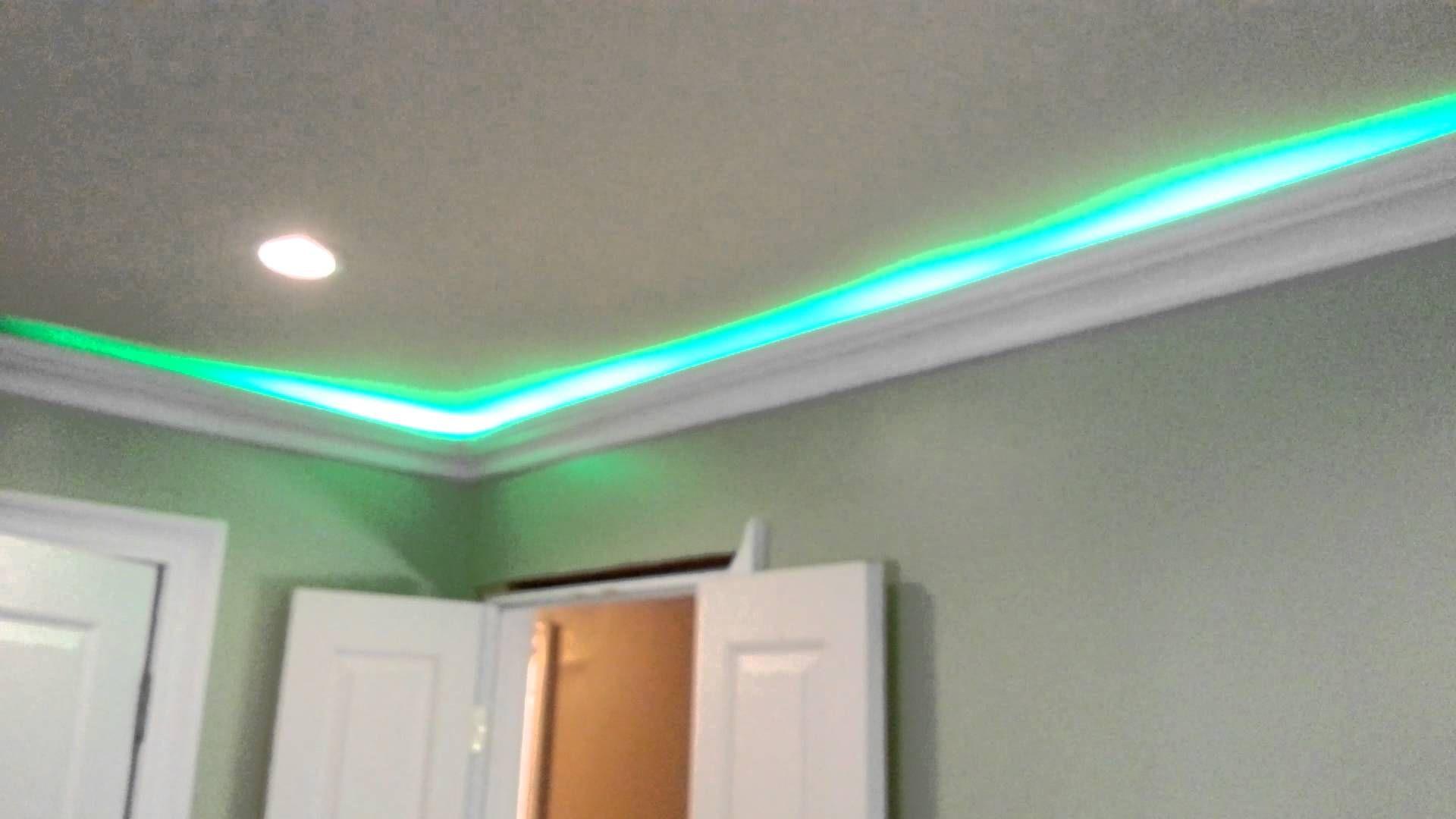 Led Smd Hit Lights Behind Crown Molding Test Fit Bathroom Ceiling Light Crown Molding Installation Molding Installation