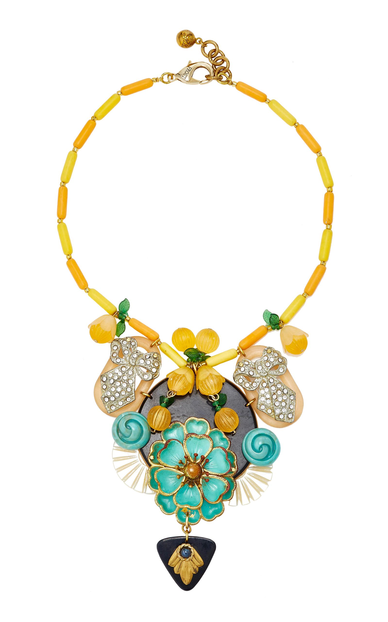 LULU FROST ONE-OF-A-KIND VINTAGE 100 YEAR FRUIT & BOW NECKLACE. #lulufrost #
