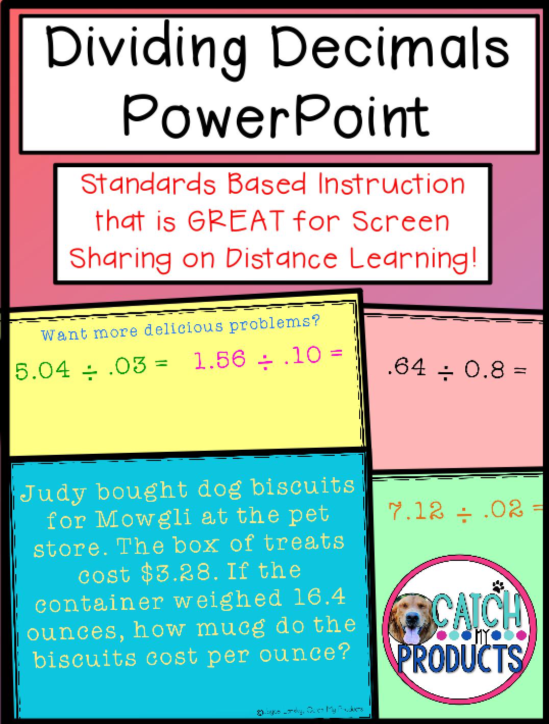 Dividing Decimals By Decimals 5th Grades Powerpoint Lesson Powerpoint Lesson Math Lesson Plans Math Problem Solving [ 1420 x 1076 Pixel ]