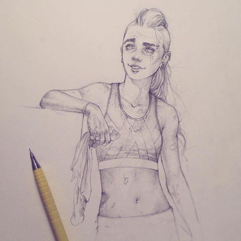 Red - Post Training Workout sketch by Tvonn9 on DeviantArt