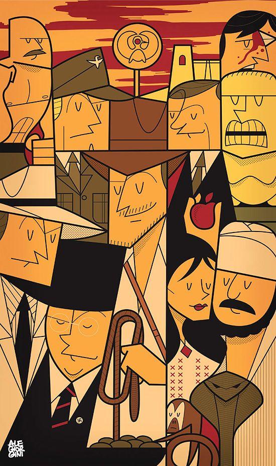 New Pop Culture Illustrations by Ale Giorgini | Inspiration Grid | Design Inspiration
