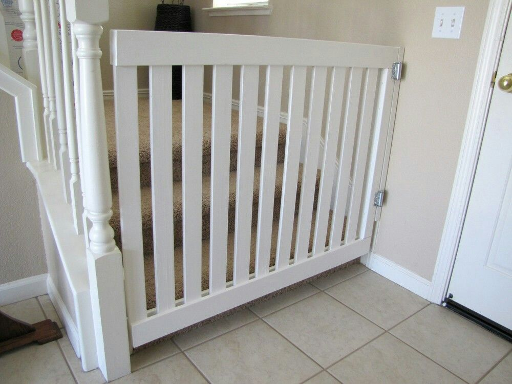 Top Of Back Stairs... Something Simple. Not Sure If White Or Dark · Diy GateDiy  Baby ...