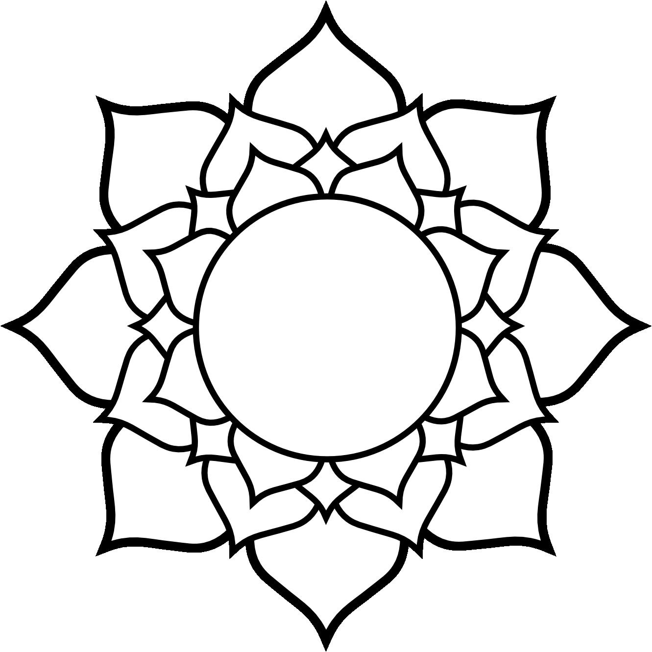 clipartist.info Lotus black white line art tattoo tatoo
