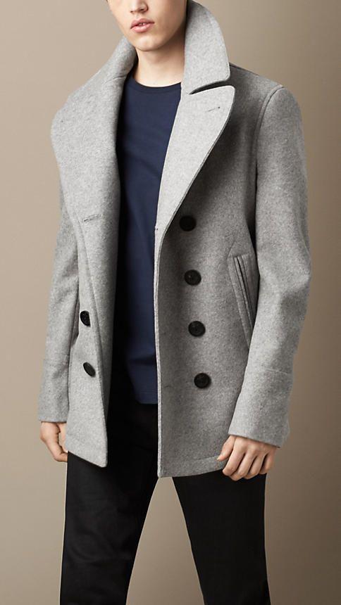Pea coat em cashmere de lã | Burberry