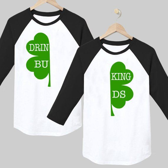 7dd1b3ae6 St Patricks Day Shirt - Matching couples shirts - St Patricks day tee -  Shamrock - Drinking shirt -