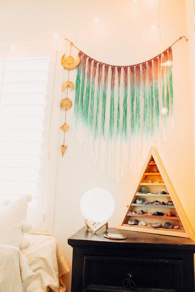 Lady scorpio alexa halladay ladyscorpio101 com bedroom goals ☽ ✩ beautiful room by lady scorpio bohemian hot pink pillows bedroom moon phase wall