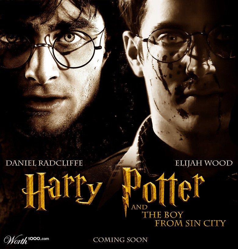 Coming Soon Elijah Wood Daniel Radcliffe Ciudad Del Pecado Harry Potter Heroe Ninos Creativo