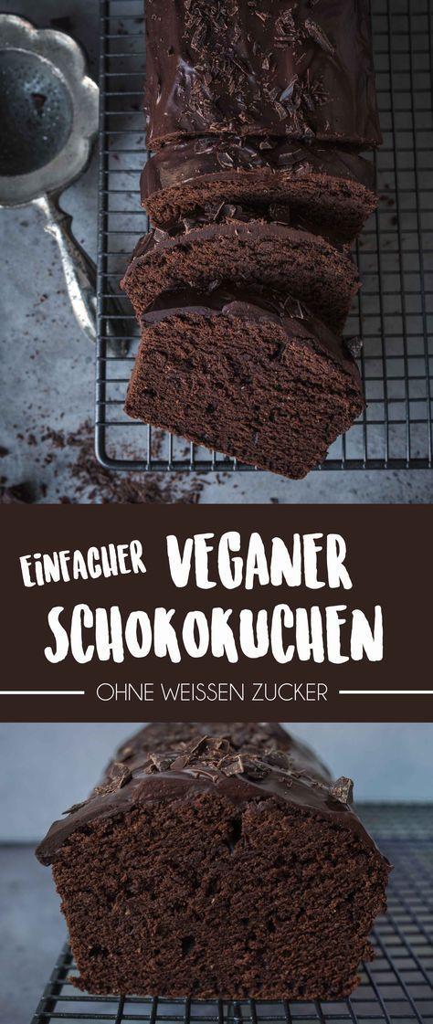 Einfacher Veganer Schokoladenkuchen {Gemacht in unter 1 Stunde} | Vanillacrunnch | Food & Lifestyle Blogger