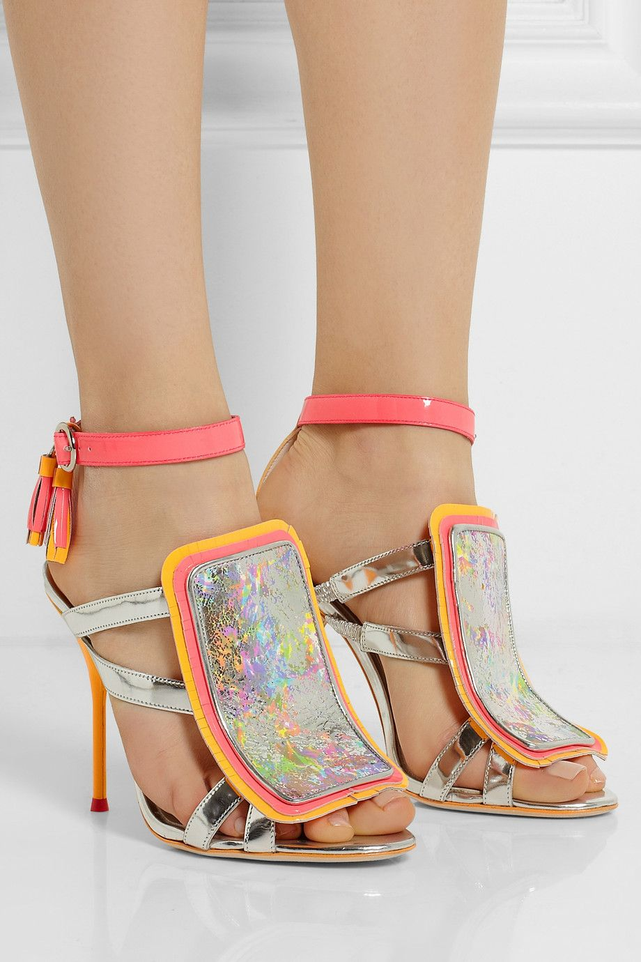 Sophia Webster Marissa metallic and neon leather sandals loved by  ChicCooltured f774d18eaea