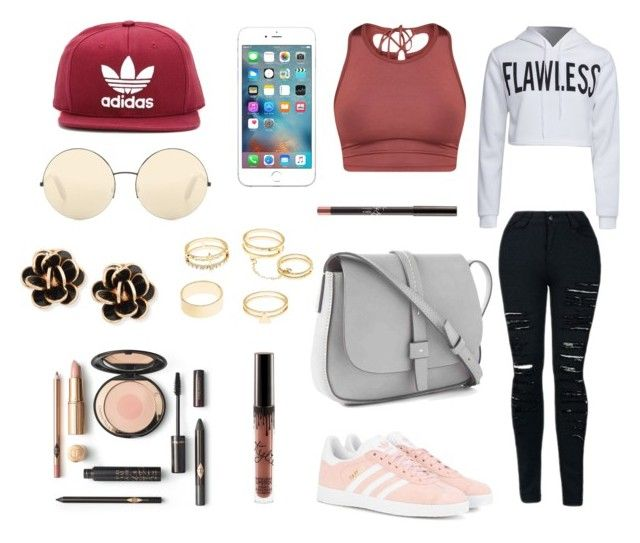 """Untitled #12"" by ele-duperray on Polyvore featuring WithChic, adidas Originals, Charlotte Russe, Gap, Chantecler and Victoria Beckham"