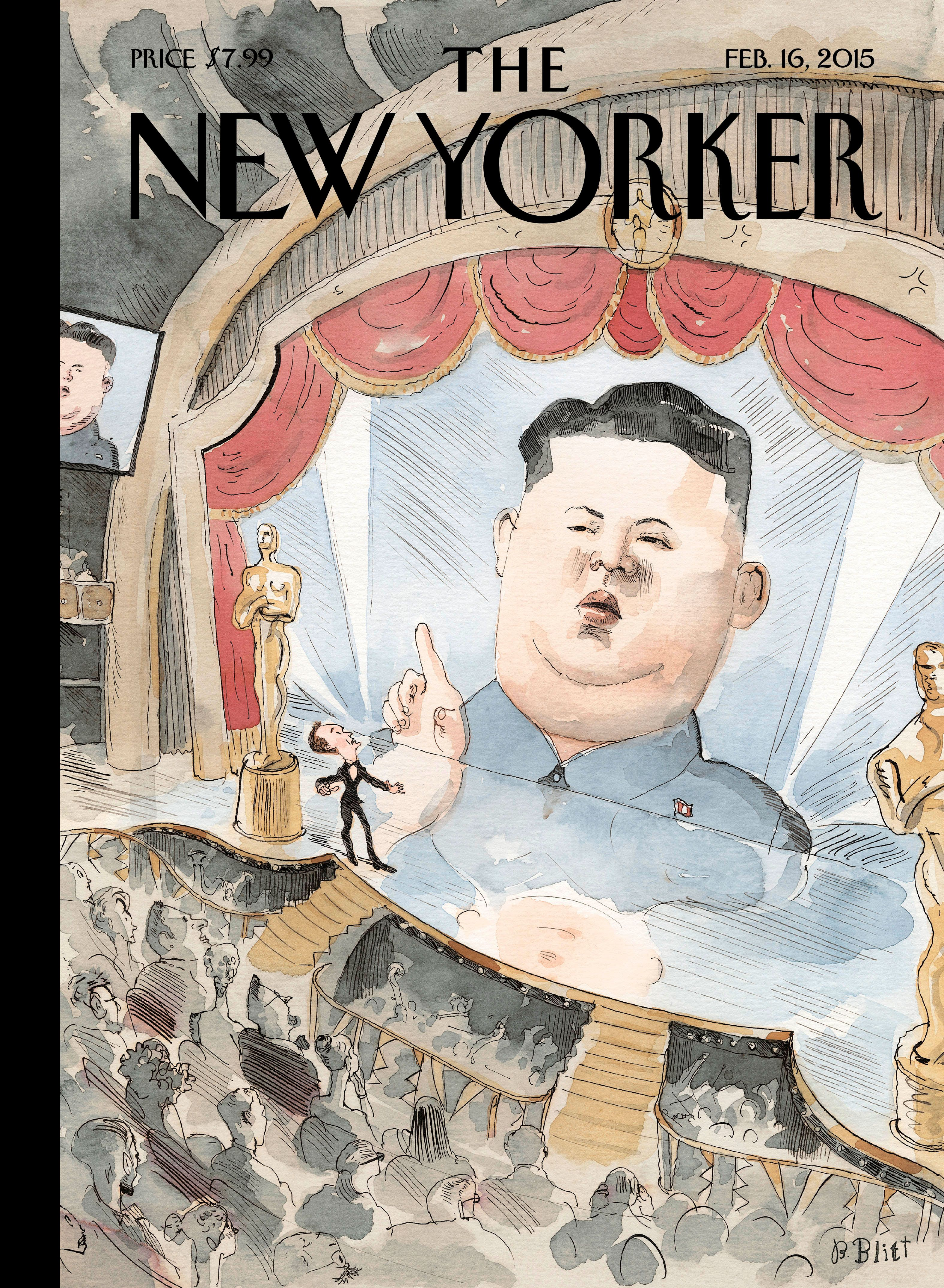 "The New Yorker - Monday, February 16, 2015 - Issue # 4580 - Vol. 91 - N° 1 - Cover ""Kim-Jong-un Interrupts"" by Barry Blitt"