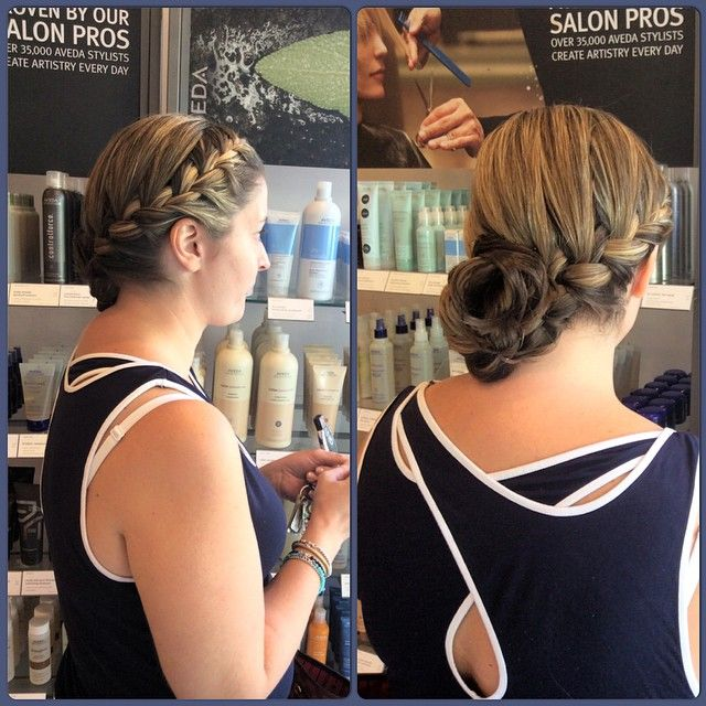 A french braid can never go wrong on any occasion. Front french braid with a low side bun for a perfect night out! #french #braid #low #side #hairdo #bun #frenchbraid #lowbun #sidebun #simple #gorgeous #hairstyle #special #occasion #hairspray #aveda #loreal #nyc #brooklyn #bayridge #alamodesalonandspa #hairsalon #7184911100 #lowsidebuns