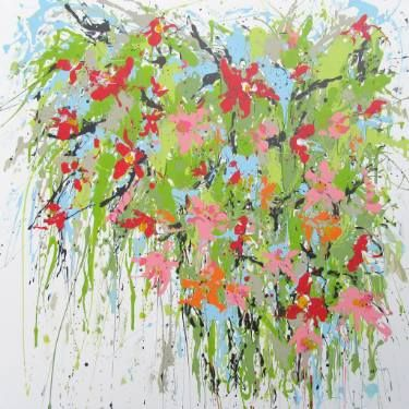 "Saatchi Art Artist Isabelle Pelletane; #Painting, ""Phytal 2"" #art #abstract #bloom #expressionism #garden #Twombly #Mitchell www.isabellepelletane.com"