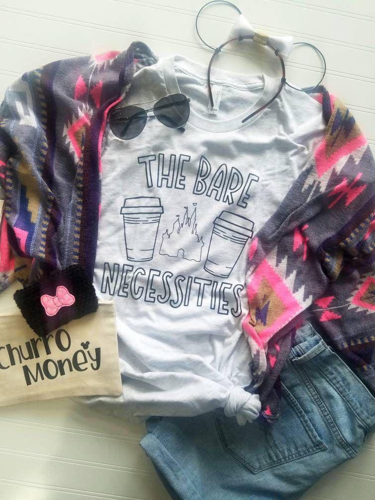 Jungle book shirt disney shirt the bare necessities coffee