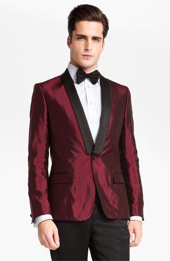 Versace Trim Fit Dinner Jacket | Red tuxedo, Tuxedo for ...