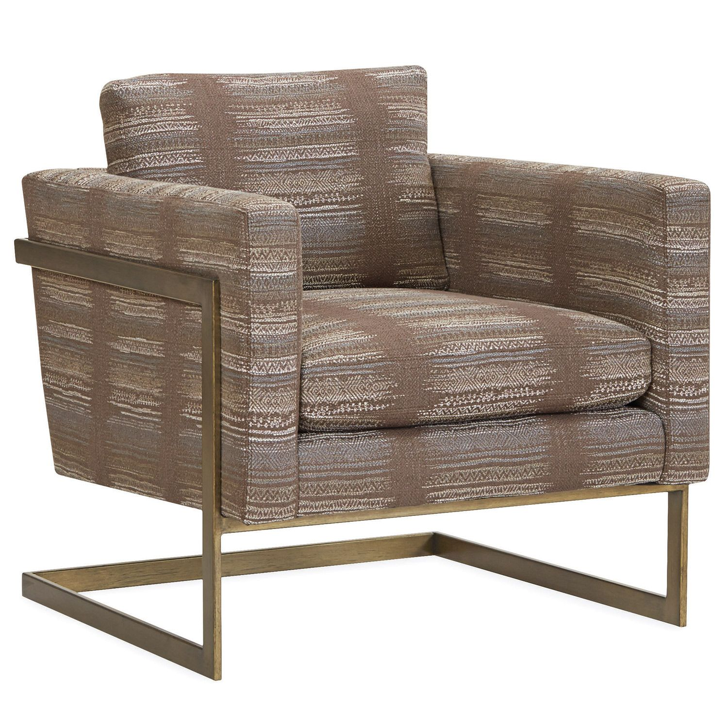 An Angular Frame Supports The Upholstered Cushions For Statement Making Eal Antique Br Topsch Detailing Soy Based Foam Cushion Wred