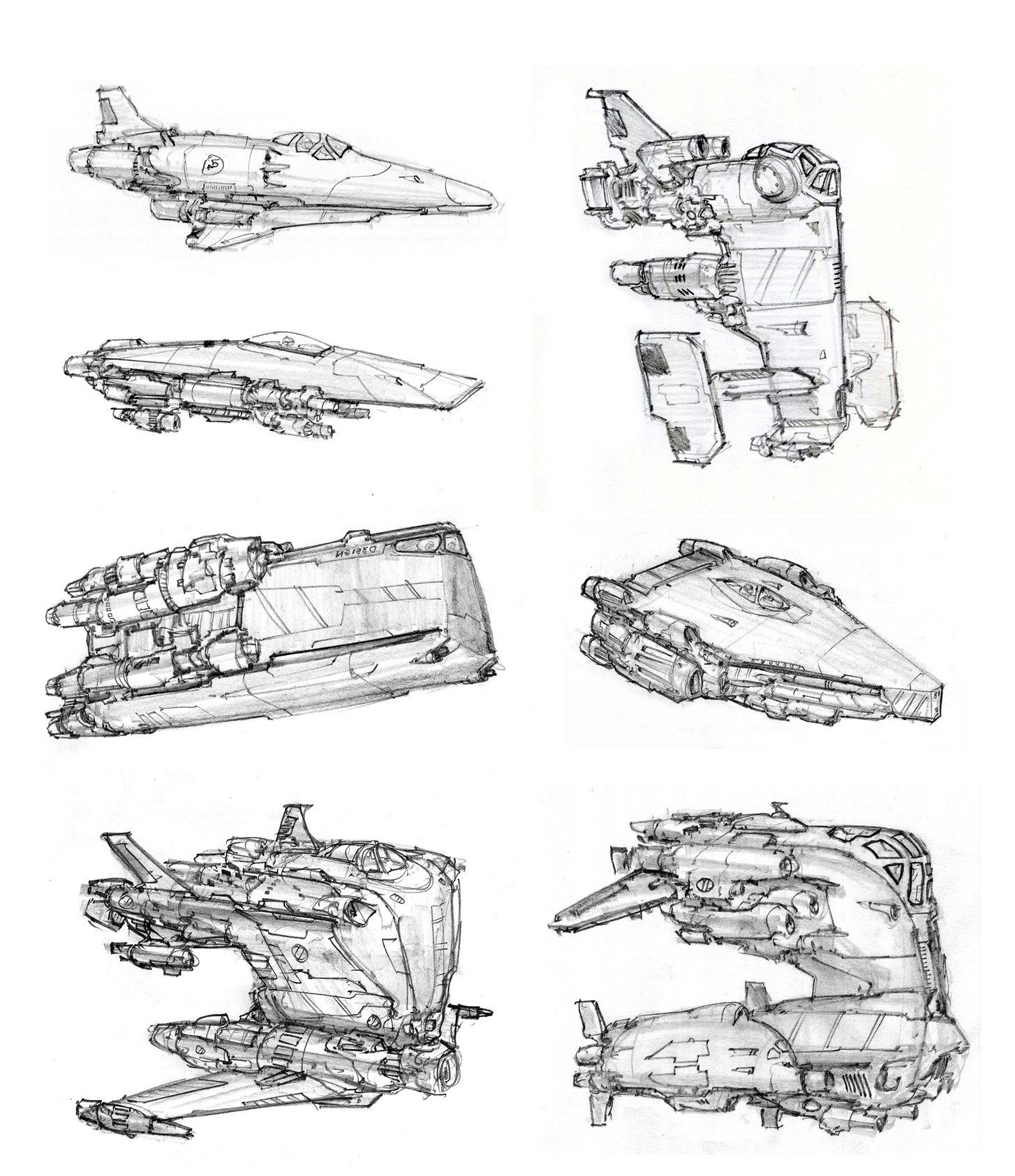 Spaceship Sketches By Alex Villarreal Spaceship Art Sci Fi Concept Art Spaceship Concept